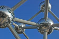 Het Atomium, aan de rand van Brussel
