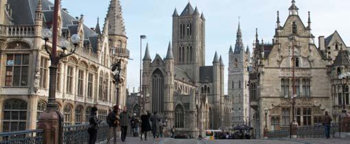 Het prachtige historische centrum van Gent