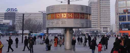 Alexanderplatz in het voormalige Oost-Berlijn