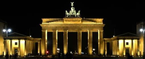 De indrukwekkende Brandenburger Tor, het symbool van Berlijn
