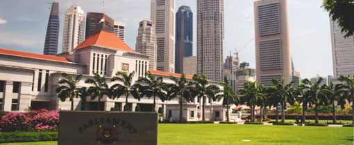 Parliament House in hartje Singapore