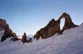 Wintersporten in Frankrijk. Skien op het dak van de Alpen. C'est cool!