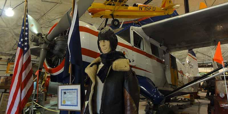 Het Aviation museum in Fairbanks