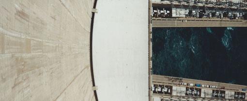 Hoover Dam en Lake Mead. Aan de Colorado rivier
