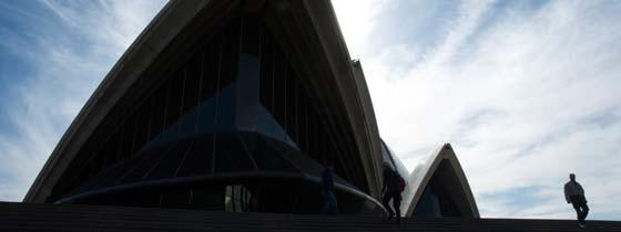 Welkom in Australie: Het wereldberoemde Sydney Opera House met haar karakteristieke vormen