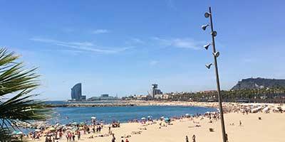 Barcelona wintersport. Op rij-afstand van de stad