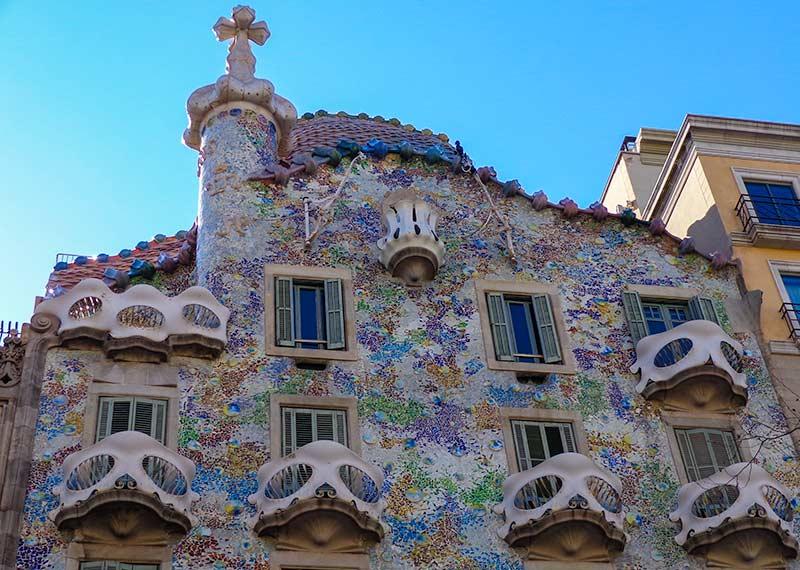 Het Casa Batlló aan de Passeig de Gràcia in Barcelona