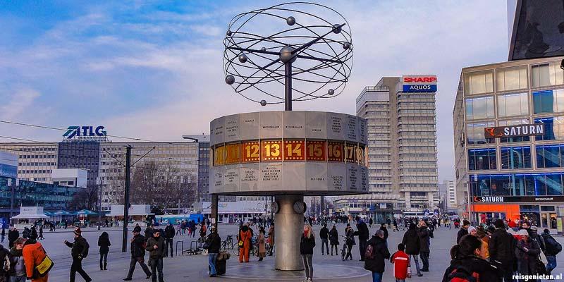 Het Alexanderplatz in het voormalige Oost-Berlijn