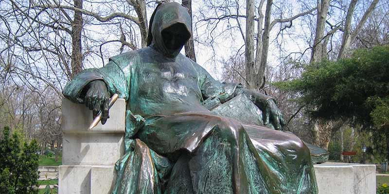 Anonymus, een opvallend beeld van Miklós Ligeti uit 1903