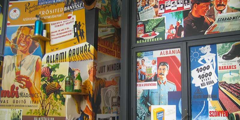 Oude Sovjet propaganda in een van de musea in Boedapest