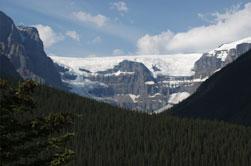 De Columbia Icefields tussen Jasper en Banff in Canada