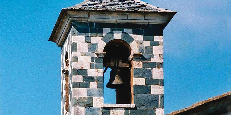 Het Pisaanse kerkje De San Michele de Murato in de Neffio regio (Noord Corsica) stamt uit eind 1200