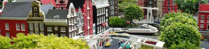 De grachten van Amsterdam. Nagebouwd met miljoenen legostenen in Legoland