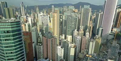 Hongkong Island. Het belangrijkste stadsdeel van Hongkong