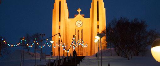 Akureyri. Grootste stad van het noorden