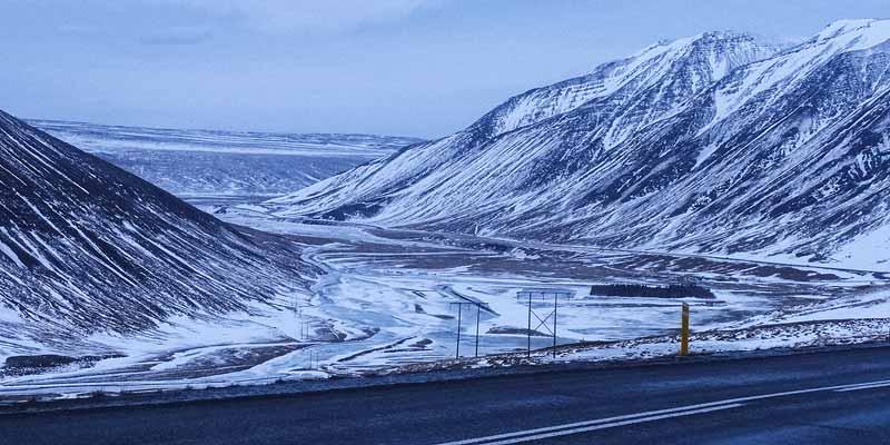 Onderweg door een winters IJsland