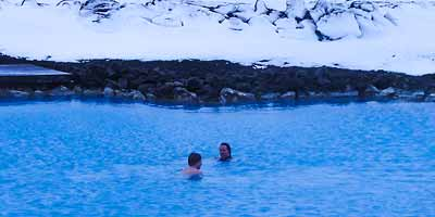 Blue Lagoon. Geothermisch baden in zomer en winter