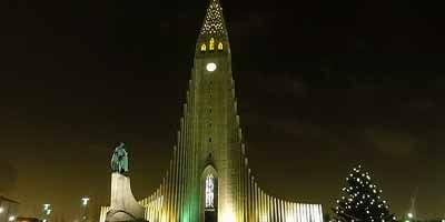 Reykjavík, hoofdstad van IJsland. De noordelijkste hoofdstad ter wereld