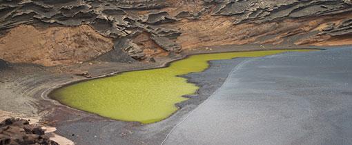 El Golfo. Het smaragd groene kratermeer van Lanzarote