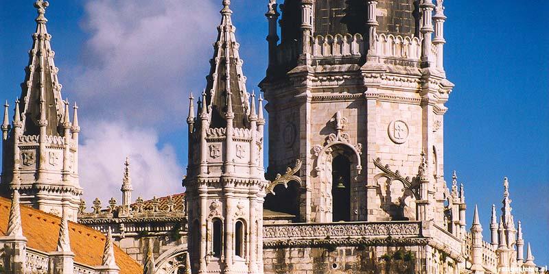 Het Mosteiro dos Jeronimos klooster in Lissabon