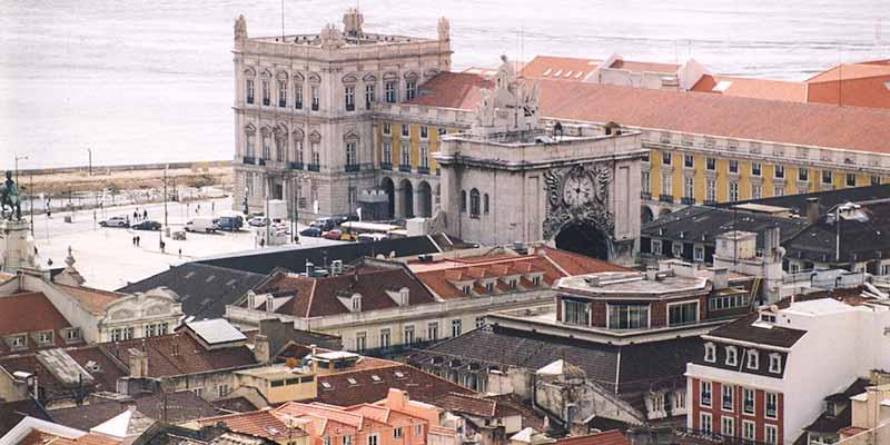 Praça do Comércio. Het Paleisplein in Lissabon