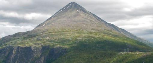 Gaustatoppen in de provincie Telemark