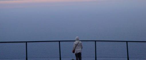 De Noordkaap: het einde van de wereld. De foto is gemaakt om 12 uur 's nachts