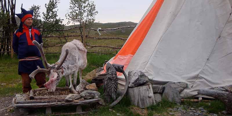 Saami (Lap) in het noorden van Noorwegen