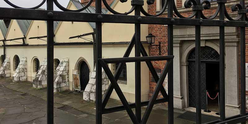 De Oude Synagoge in de wijk Kazimierz in Krakau