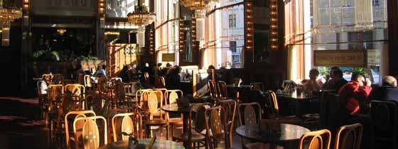 Eén van de vele gezellige restaurants in Praag