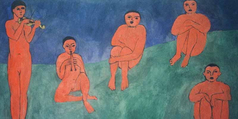 Eén van de werken van Matisse in de Hermitage, Sint-Petersburg