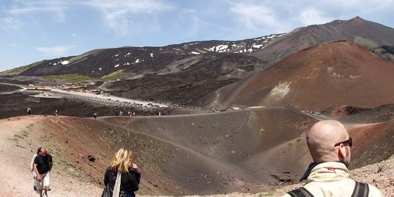 Etna vulkaan. Uitstapje Sicilië. Tocht naar de top van Sicilië