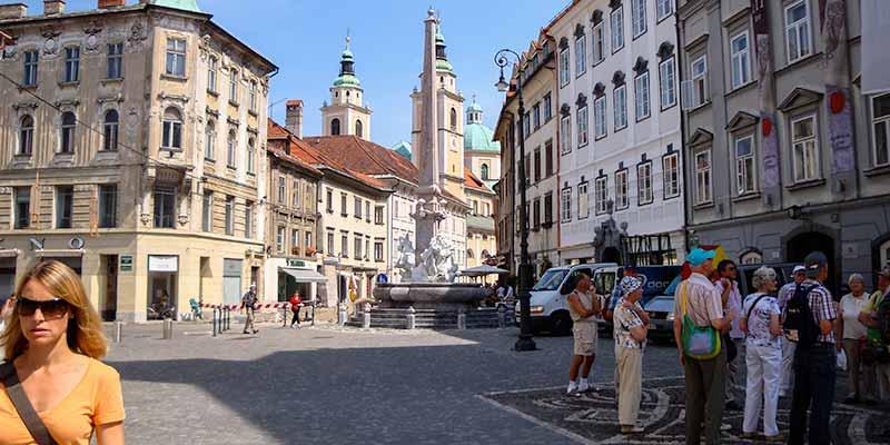 Het aangename centrum van de Sloveense hoofdstad Ljubljana