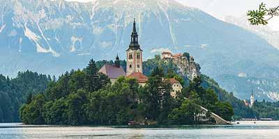 Meer van Bled. Het noordwesten van Slovenië