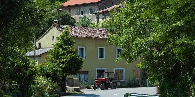 Het platteland van Slovenie