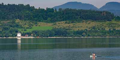 Liptov regio in midden-Slowakije. Vakantie aan het water in centraal Slowakije