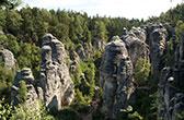 Český ráj. Rotsen, bossen en burchten in het Boheems Paradijs