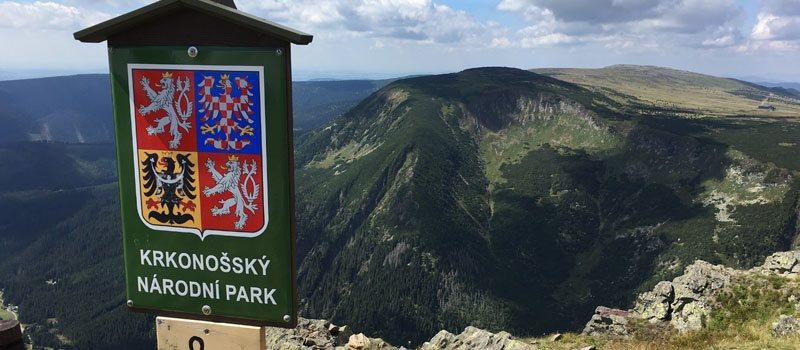 Uitzicht vanaf de top van de Snezka