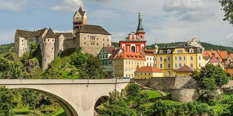Loket, een typisch Tsjechisch stadje in de West-Bohemen