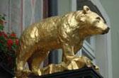 De Gouden Beer. De mascotte van Freiburg