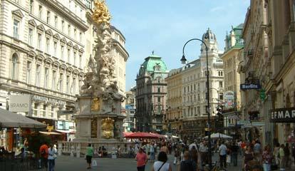 De mooie binnenstad van Wenen in Oostenrijk